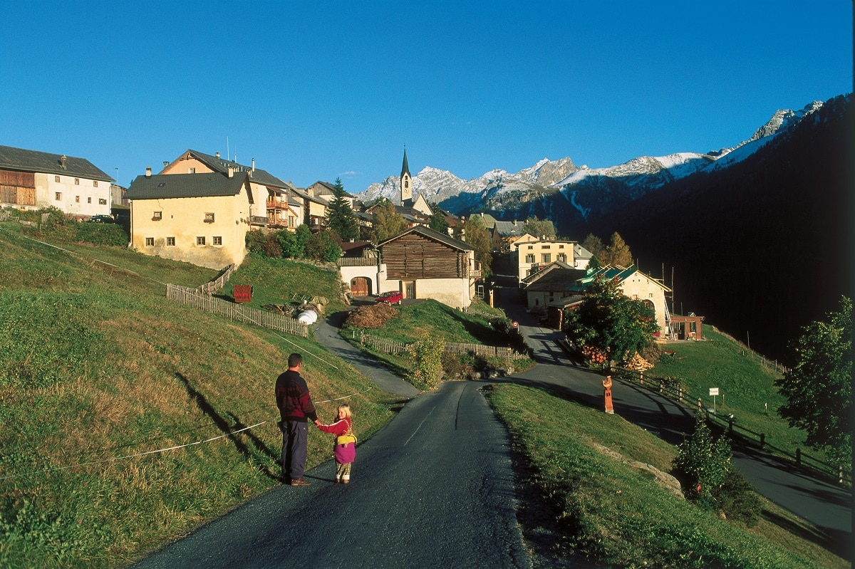 villaggio di Grevasalvas Pizzo Bernina