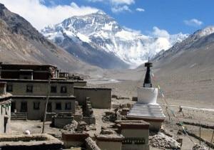 Panoramica dell'Everest dal monastero di Rongbuck