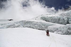 Denis Urubko verso campo 3 del versante sud dell'Everest