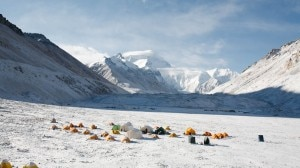 L'Everest da Nord e il campo base