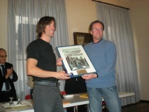 Herve Barmasse riceve il premio Sat 2010