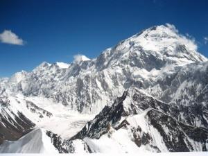 La parete nord del Gasherbrum I