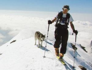 il cane husky Ambra e il suo padrone Francesco