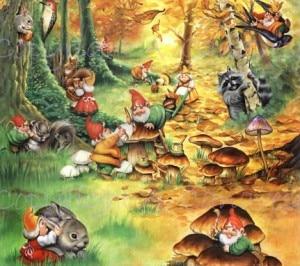 gnomi nel bosco