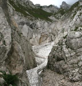 Il canalone Gravone del Monte Camicia