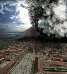 La simulazione di un'eruzione del Vesuvio