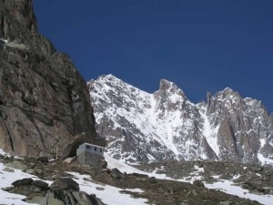 Il Whymper Couloir all'Aiguille Vert