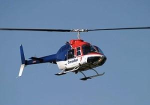 Un elicottero simile a quello precipitato