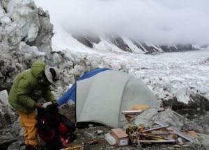 K2 nebbia al campo base