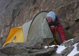 Gerlinde Kaltenbrunner, bivacco sul K2