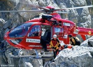 L'elicottero dell'Aiut Alpin Dolomites