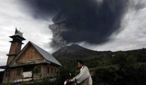 Il vulcano entrato in eruzione