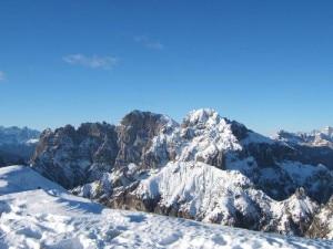 Veduta gruppo dello Schiara dal monte Serva