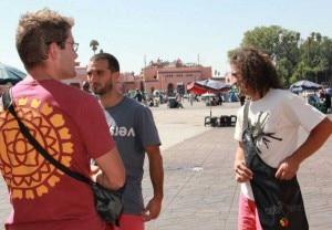 Il trio di Altroverso in Marocco (Photo Altroverso Climbing Park)