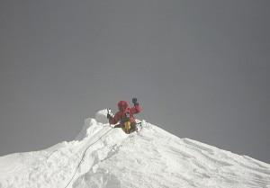 Messicano Badia Bonilla in cima al Manaslu