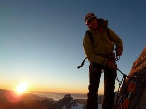 Adam Holzknecht sul Cerro Torre