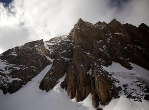 La parete sudest del monte Kyzyl Asker (Photo Franz Walter)