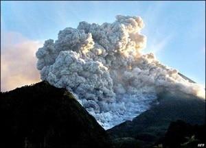 L'eruzione del Merapi