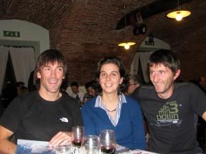 A cena: Hervé Barmasse, Simona Dovis e Daniele Bernasconi (Photo SimonaDovis)
