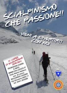 Locandina corsi di scialpinismo Cai Lecco