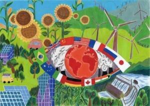 Il disegno di Cindy Liu (10 anni), Usa, vincitrice del Nord America nel 2008