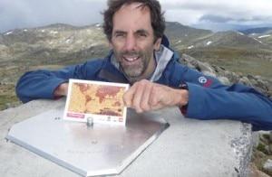 Joao Garcia sul Monte Kosciuszko (Photo courtesy Desporto.publico.pt)