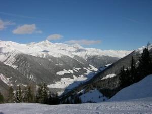 Veduta della Vetta d'Italia e del confine con l'Austria