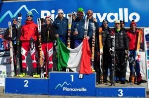 Mondiali di Claut, podio staffetta (Photo courtesy Areaphoto)