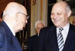 Il presidente Napolitano con Luis Durnwalder