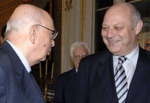 Luis Durnwalder con Giorgio Napolitano