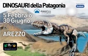 """Il manifesto della mostra """"Dinosauri della Patagonia"""" (Photo dinosauridellapatagonia.it)"""