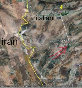 La cartina della zona dell'attentato