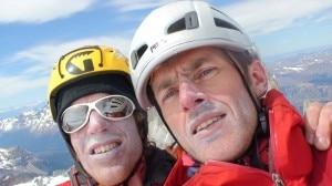 Cumbre - Salini e Bernasconi in cima al Torre