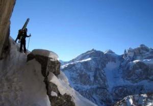 Freeride in Dolomiti (Photo F. Tremolada courtesy of www.versantesud.it)