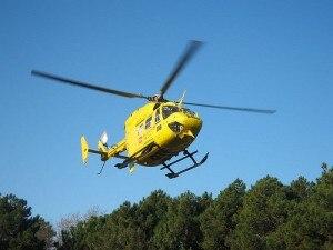 Un elicottero del 118