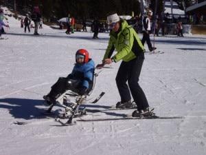 Lezioni di sci nell'evento di Alleghe (Photo Brain Power)