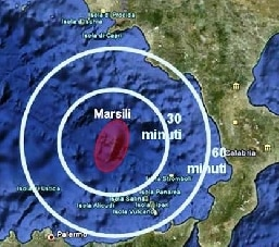 Il vulcano Marsili e le previsioni di maremoto