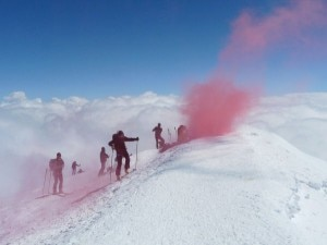 Una foto del Monte Bianco durante le Tristi Montagni Fumanti