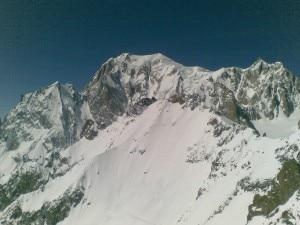 Il Monte Bianco da Punta Helbronner