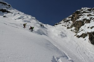 Bernina - SassoNero in freeride (Photo Luca Maspes courtesy of masinoclimbing.blogspot.com)
