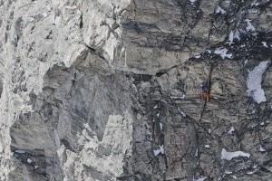 Cervino - Herve Barmasse sulla nuova via