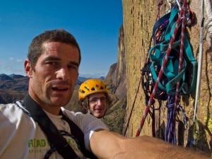 Dal Pra e Adam Ondra (Photo Climb for life)