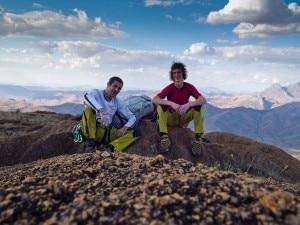 Pietro Dal Pra e Adam Ondra (Photo Climb for life)