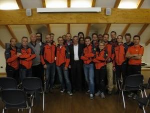 Simone con la squadra Cnsas Bolzano