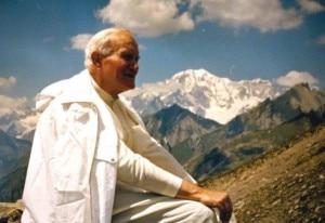 Il Beato Giovanni Paolo II in Valle d'Aosta (photo courtesy Rai.tv)
