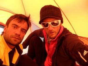 Nardi e Bernasconi nella tenda di campo 2