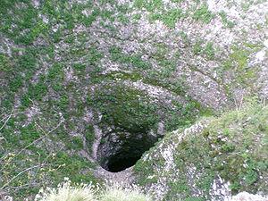 L'ingresso della Spluga della Preta