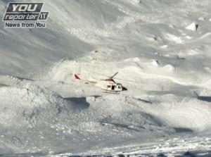 L'elicottero di soccorso in azione