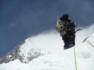 salita verso il Colle Sud dell'Everest