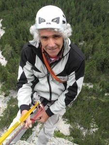 Alessandro Gogna in corda doppia